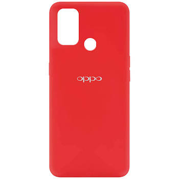 Чехол Silicone Cover My Color Full Protective (A) для Oppo A53 / A32 / A33 Красный / Red