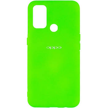 Чехол Silicone Cover My Color Full Protective (A) для Oppo A53 / A32 / A33 Салатовый / Neon green