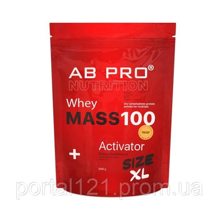 Гейнер 2600 г MASS 100 Whey Activator AB PRO шоколад