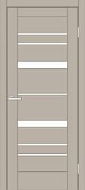 Двери межкомнатные ОмиС Рино 02 стекло сатин ПВХ Silk matt, silk matt мокко, 800