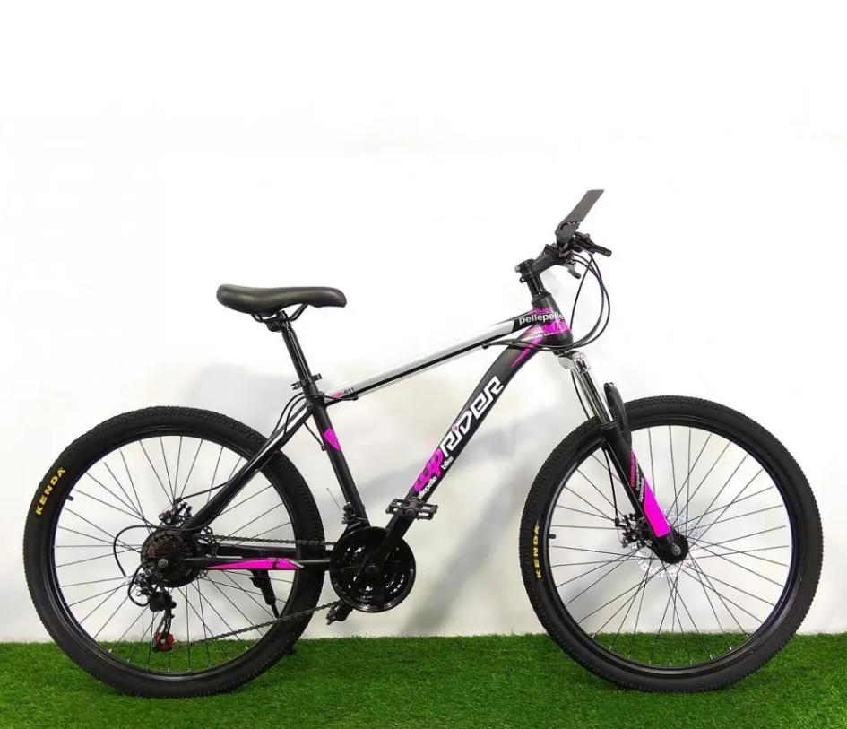 Двоколісний гірський спортивний велосипед 26 дюйма Toprider 611 рожевий