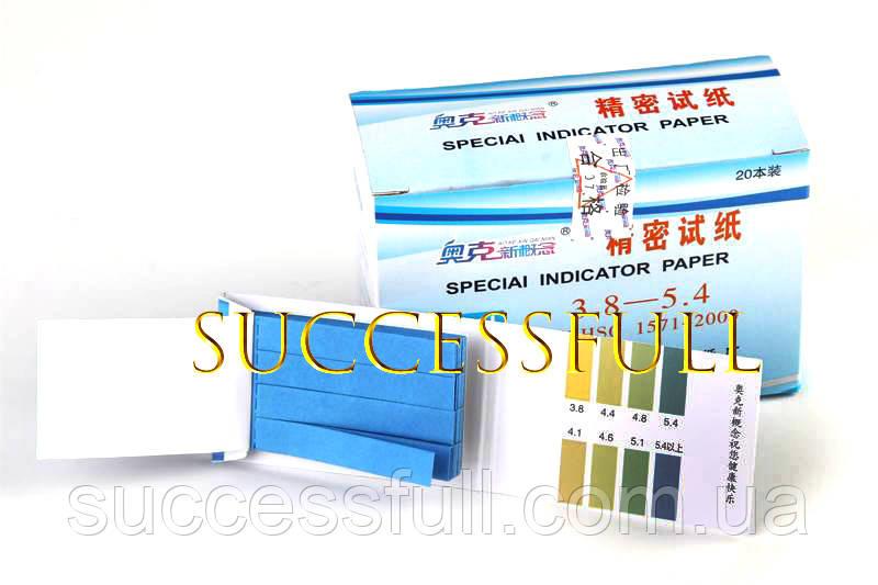 Лакмусовая бумага tzakzy PH 3.8-5.4