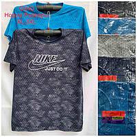 Мужская трикотажная футболка Nike размер норма 48-52, цвета миксом