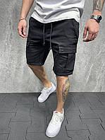 Мужские джинсовые шорты черного цвета (черные) с карманами Турция