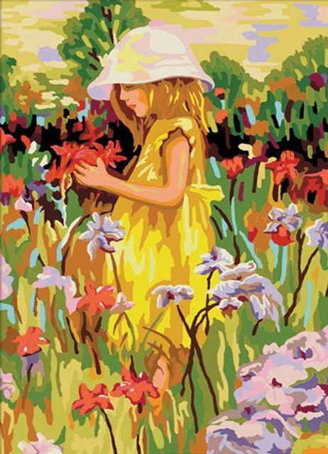 Алиса с цветами