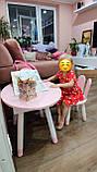 Детский стол и 1 стул (деревянный стульчик бабочка и круглый столик с пеналом), фото 4