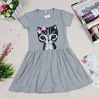 """Платье летнее для девочки """"Кошка"""", на рост от 80 до 116 см роста"""