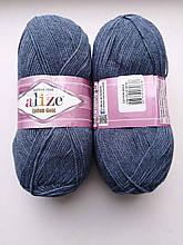 Пряжа для вязания Alize Cotton Gold Ализе Коттон Голд  цвет 203 джинсовый