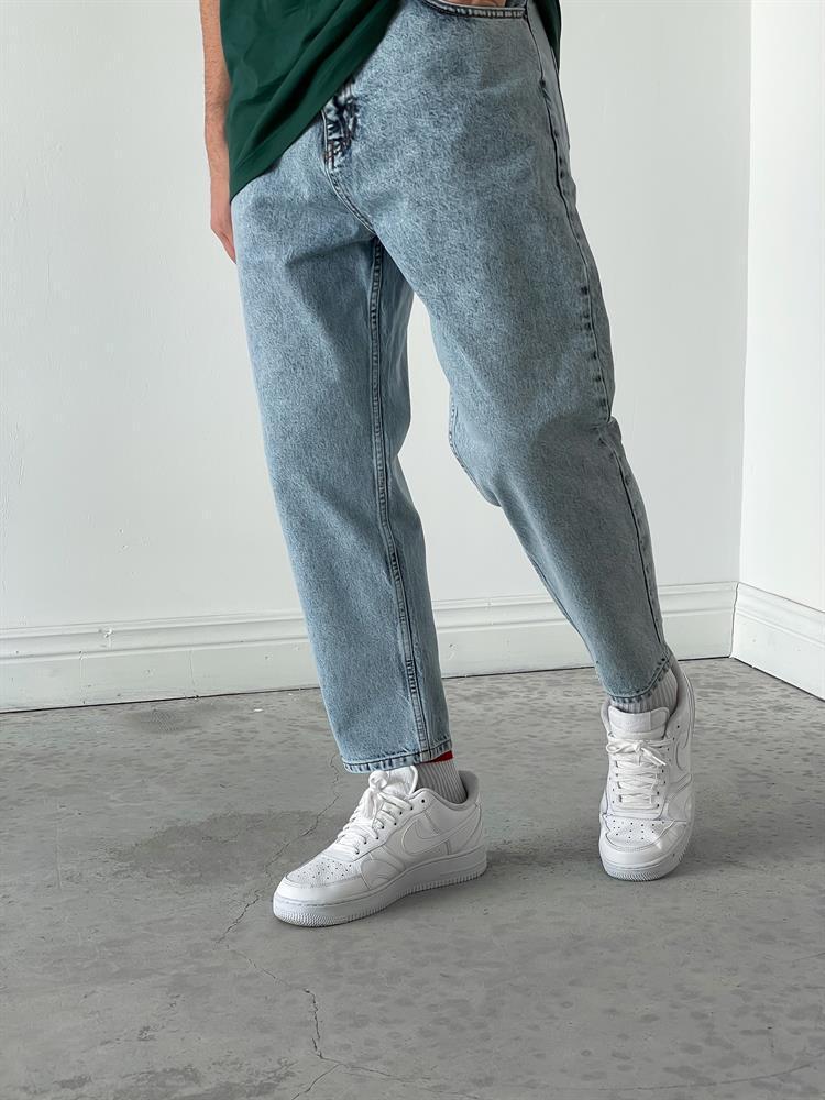 Чоловічі джинси Мом голубі
