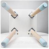 """Дитячий стіл, 1 стілець (дерев'яний стільчик """"зайчик""""нова модель і квадратний столик), фото 5"""