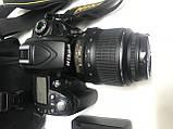 Дзеркальна камера Nikon d90 kit 18-55 хороший комплект, фото 4