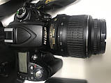 Дзеркальна камера Nikon d90 kit 18-55 хороший комплект, фото 7