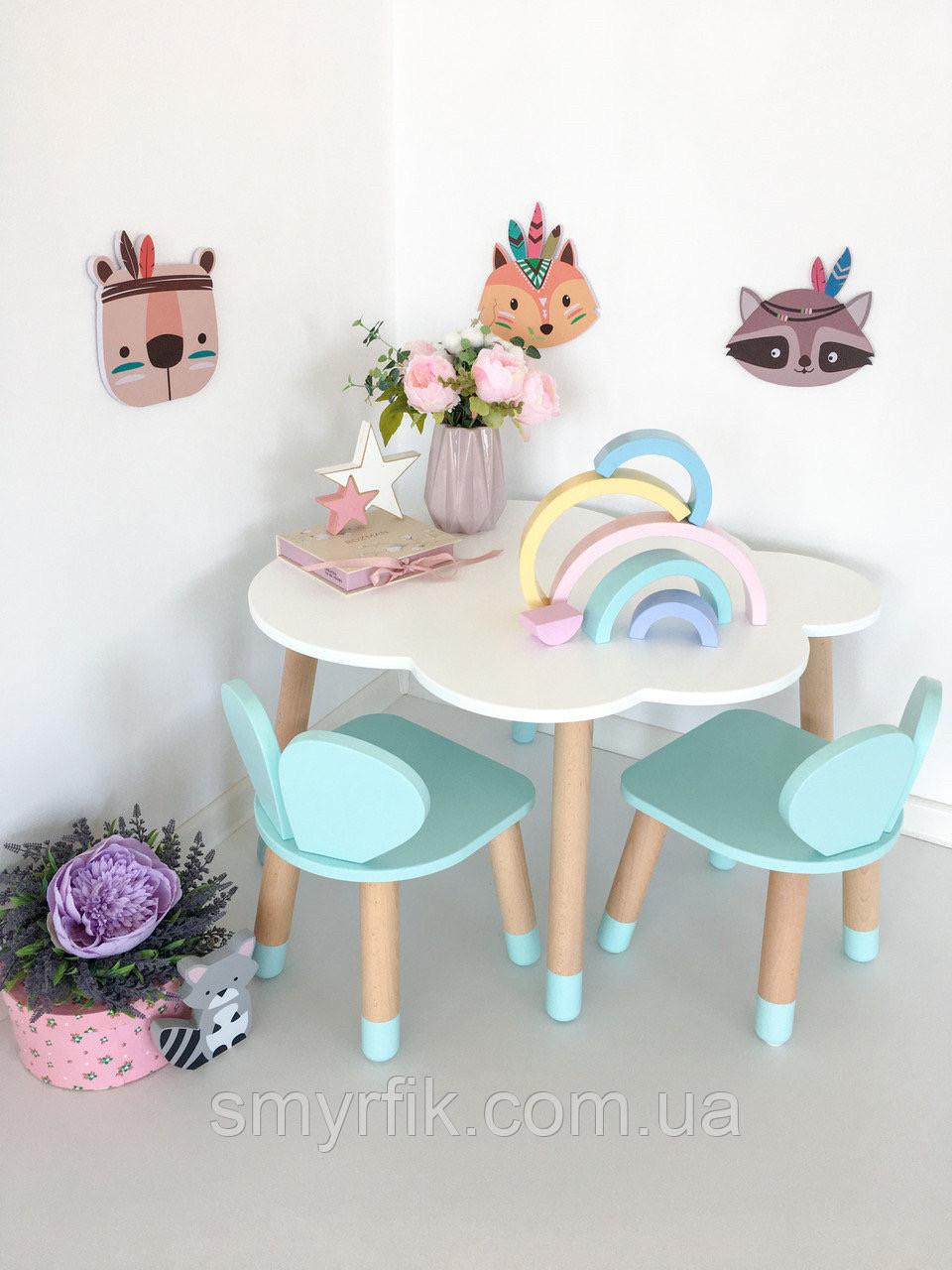 """Дитячий стіл хмара і 2 стільці """"ведмедики"""""""