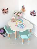 """Дитячий стіл хмара і 2 стільці """"ведмедики"""", фото 7"""