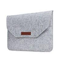 Чехол конверт для MacBook 15.4 из войлока чехол папка на макбук 15.4 серый