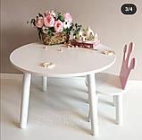 Детский стол и 1 стул (деревянный стульчик корона и столик), фото 4