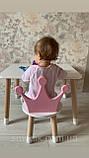 Детский стол и 1 стул (деревянный стульчик корона и столик), фото 7