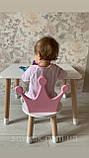 Дитячий стіл, 1 стілець (дерев'яний стільчик корона і столик), фото 7