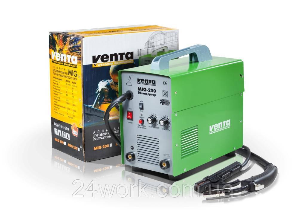Сварочный полуавтомат инверторного типа VENTA MIG-250 (MIG + MMA)
