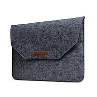 Чехол конверт для MacBook 15.4 из войлока чехол папка на макбук 15.4 черный