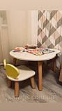 Детский стол и 1 стул (деревянный стульчик мишка и круглый столик), фото 10