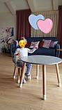 Детский стол и 1 стул (деревянный стульчик мишка и круглый столик), фото 2