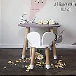 Детский стол и 1 стул (деревянный стульчик мишка и круглый столик), фото 8