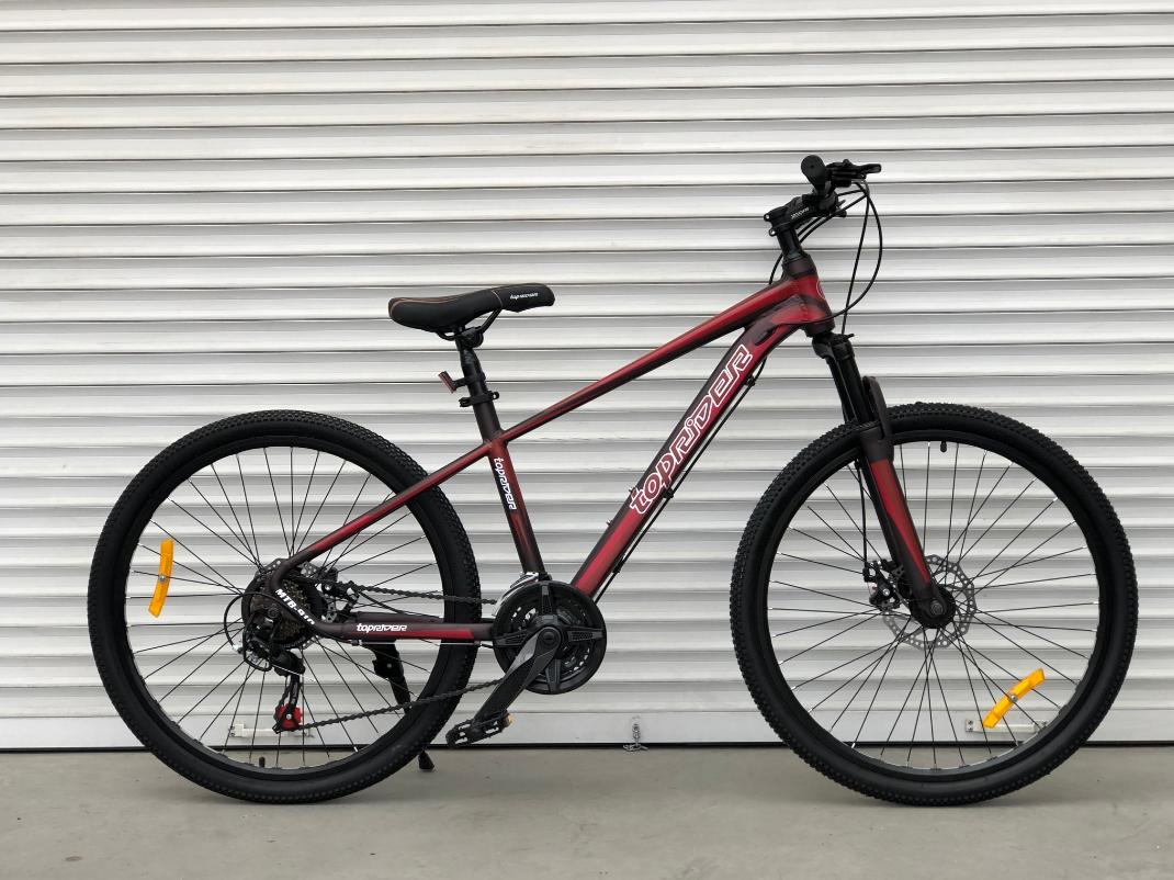 Двухколесный спортивный велосипед 29 дюйма Toprider (ORIGINAL SHIMANO) 901S бордовый