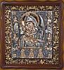 Писаная икона Божьей Матери Почаевская - Писаная икона в серебряном окладе