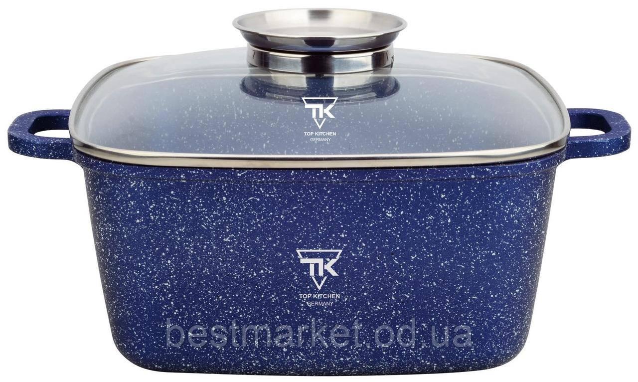Казан Квадратний з Гранітним Покриттям і Кришкою TK00055 Top Kitchen 24 см
