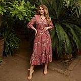 Романтичне плаття жіноче Софт Розмір 48 50 52 54 56 58 60 62 64 66 В наявності 5 кольорів, фото 4