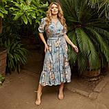Романтичне плаття жіноче Софт Розмір 48 50 52 54 56 58 60 62 64 66 В наявності 5 кольорів, фото 2