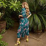 Романтичне плаття жіноче Софт Розмір 48 50 52 54 56 58 60 62 64 66 В наявності 5 кольорів, фото 5