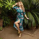 Романтичне плаття жіноче Софт Розмір 48 50 52 54 56 58 60 62 64 66 В наявності 5 кольорів, фото 6