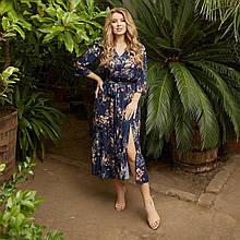Романтичное платье женское Софт Размер 48 50 52 54 56 58 60 62 64 66 В наличии 5 цветов