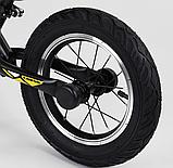 ✅Детский велобег (беговел) CORSO 73975, стальная рама, надувные колёса, фото 2