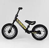 ✅Детский велобег (беговел) CORSO 73975, стальная рама, надувные колёса, фото 3