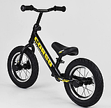 ✅Детский велобег (беговел) CORSO 73975, стальная рама, надувные колёса, фото 4
