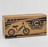 ✅Детский велобег (беговел) CORSO 73975, стальная рама, надувные колёса, фото 5