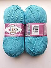 Пряжа для вязания Alize Cotton Gold Ализе Коттон Голд  цвет 287 бирюзовый
