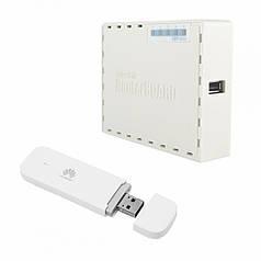 """Комплект """"Стационарный роутер Mikrotik RB951Ui-2nD + 4G LTE модем Huawei E3372h-320"""""""