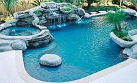 Бассейн из красного кирпича дома - отличный отдых, красота и здоровье.