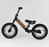 ✅Детский велобег (беговел) CORSO 69280, стальная рама, надувные колёса, фото 3