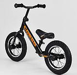 ✅Детский велобег (беговел) CORSO 69280, стальная рама, надувные колёса, фото 4