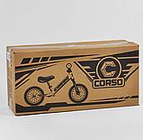 ✅Детский велобег (беговел) CORSO 69280, стальная рама, надувные колёса, фото 5