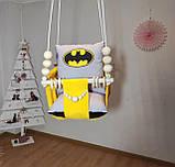 """Дитяча підвісна гойдалка """" Бетмен """"Дерев'яні намистини в комплекті!, фото 2"""