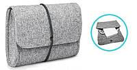 Чехол для зарядки MacBook из войлока чехол на зарядное устройство для макбук серый