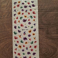 Слайдер дизайн наклейки для ногтей цветы