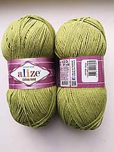 Пряжа для вязания Alize Cotton Gold Ализе Коттон Голд  цвет 385 зеленый