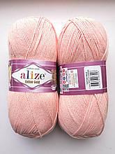 Пряжа для вязания Alize Cotton Gold Ализе Коттон Голд  цвет 393 розовый